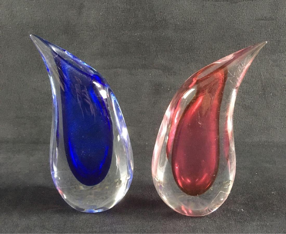 Mid Century Modern Italian Art Glass Pair of