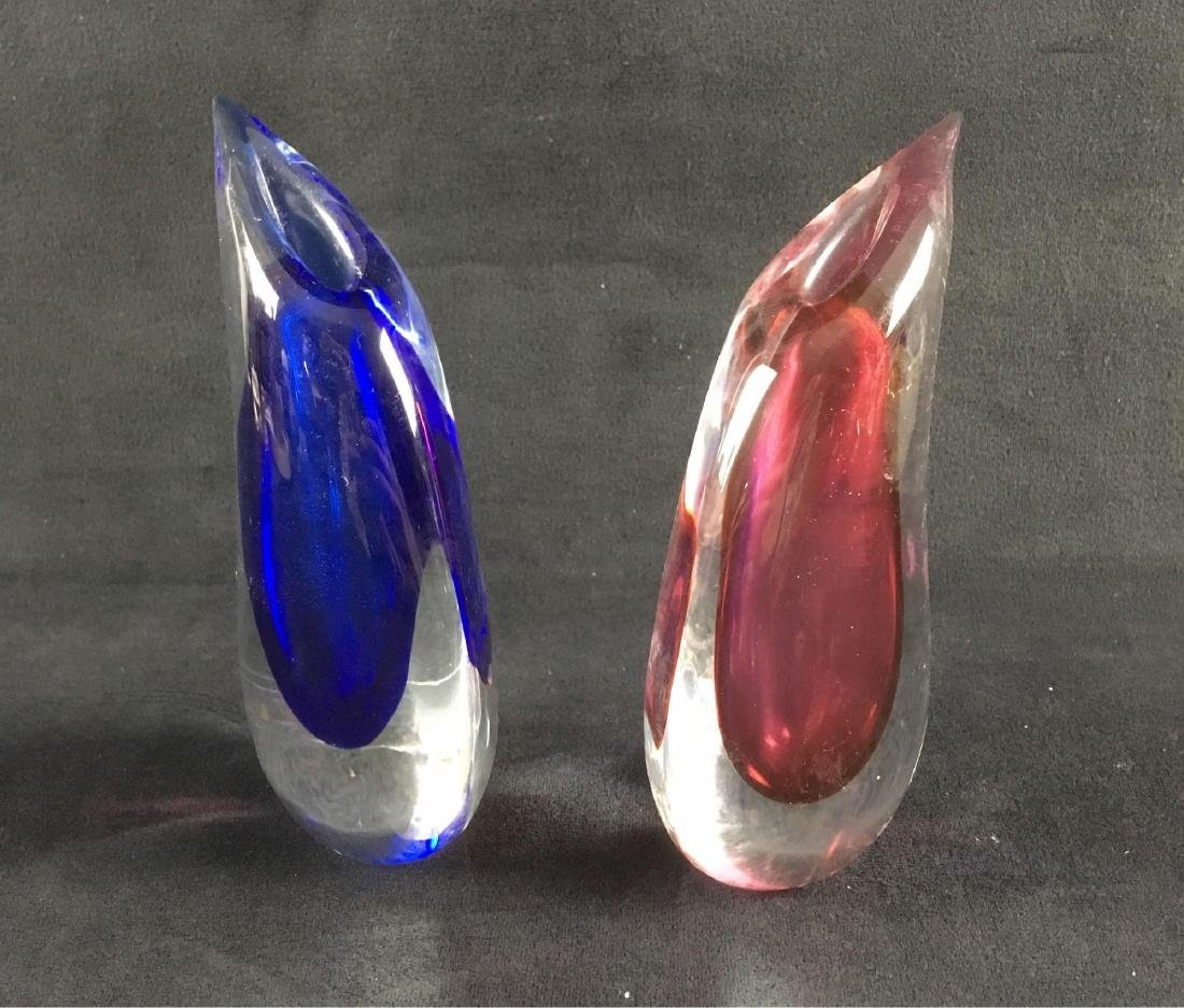 Mid Century Modern Italian Art Glass Pair of - 2
