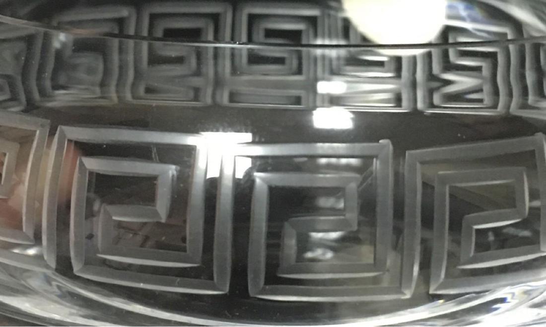 Hand Blown Cut Glass Lidded Candy Dish Trinket Dish - 6