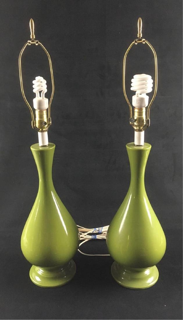 Pair of Vintage Mid Century Modern Ceramic Table Lamps
