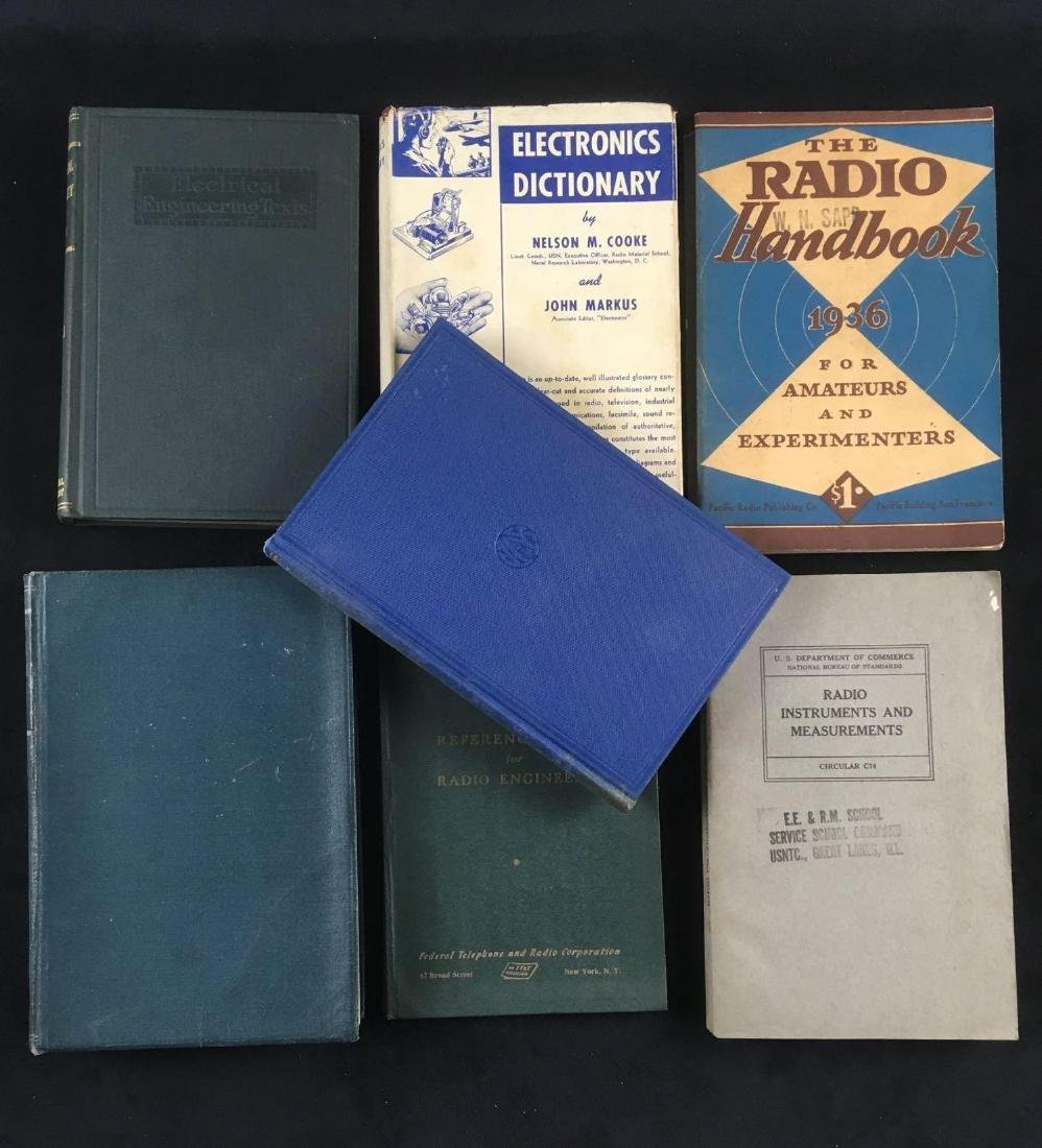 Lot of 7 1930s and 1940s Electronic Reference Books