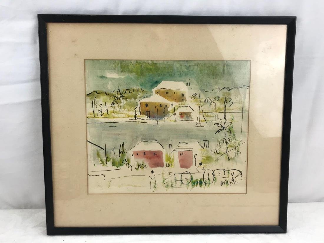Original Alfred Birdsey Abstract Landscape Watercolor