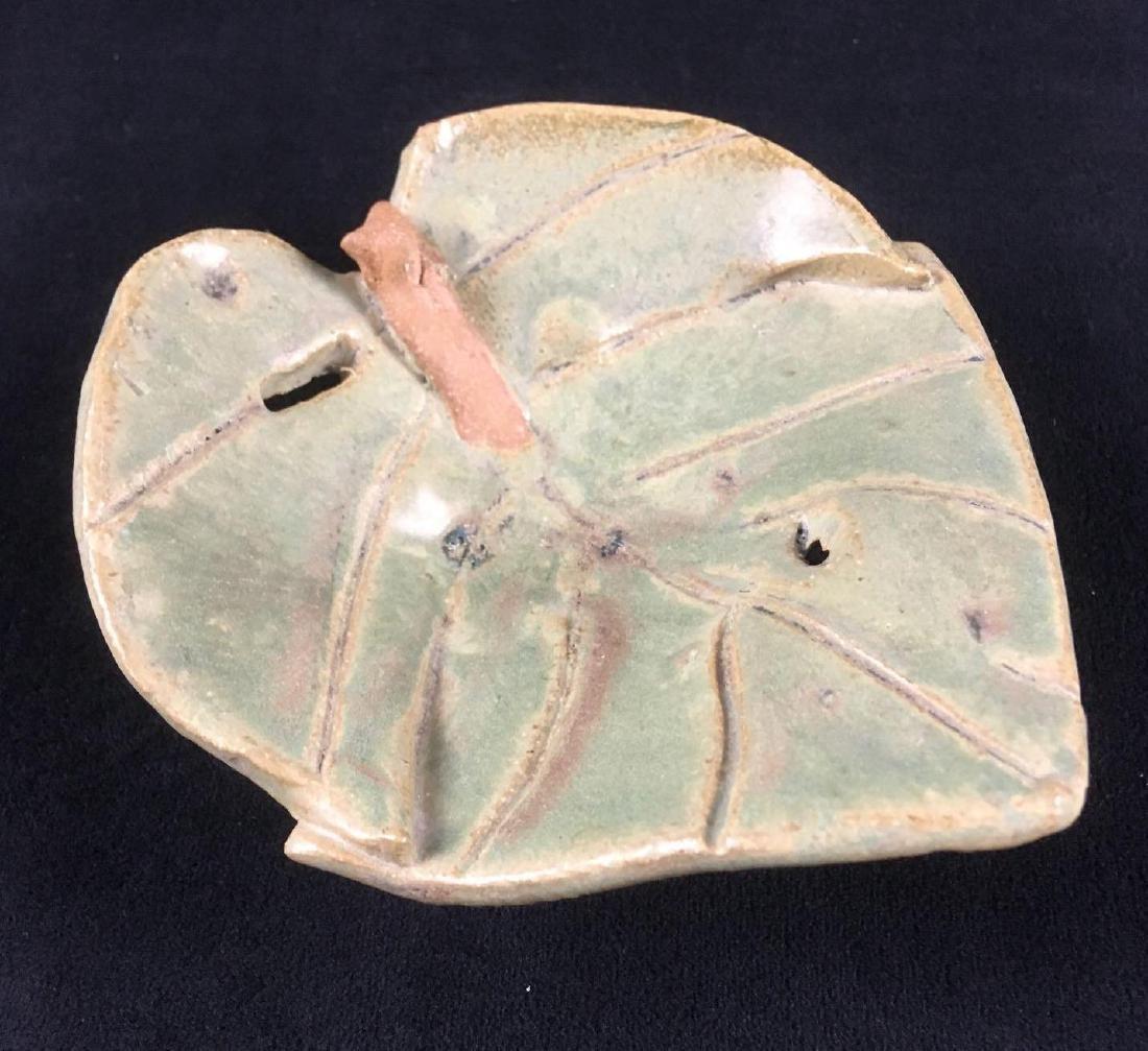 Yolanda Pale Art Footed Pottery Trinket Dish