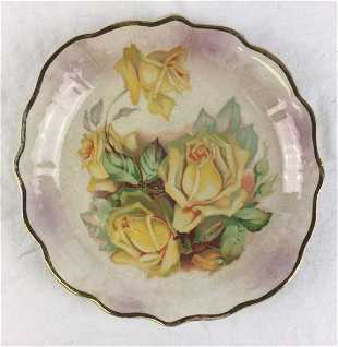41 2 Vintage Dresden China Handpainted Plates