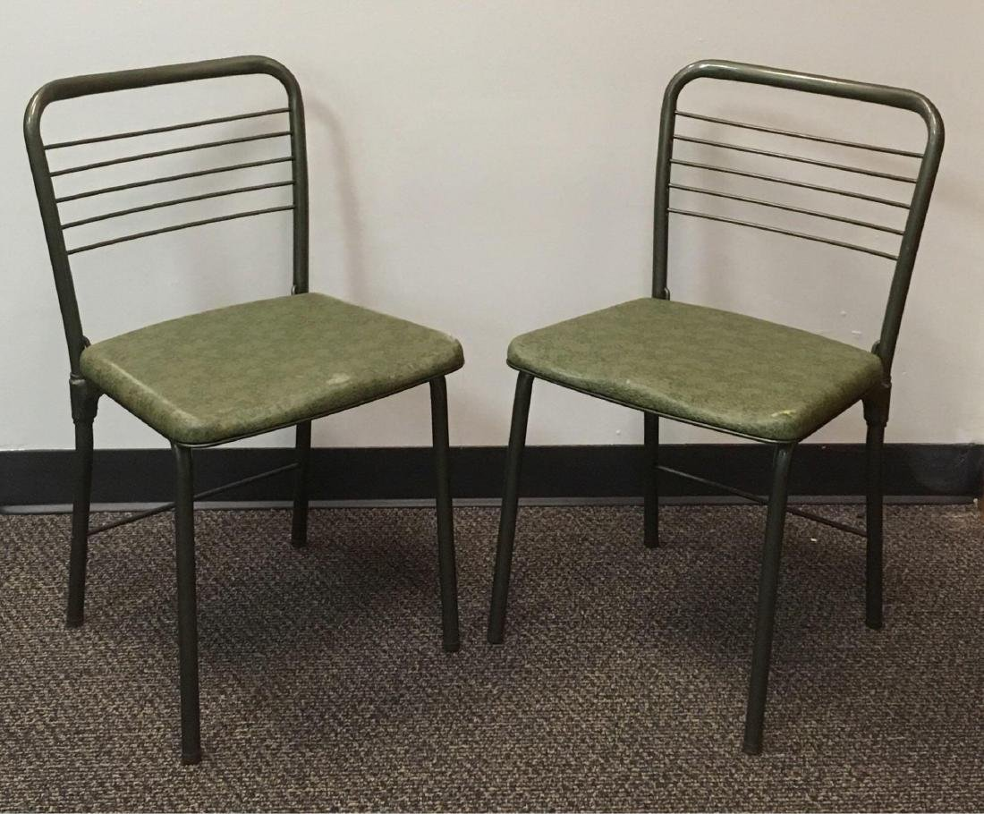 Pair of Mid Century Modern Gate Fold Chairs