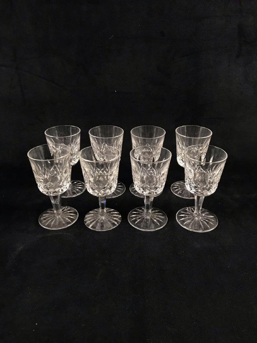 8 Signed Waterford Crystal Lismore Cordial Glasses