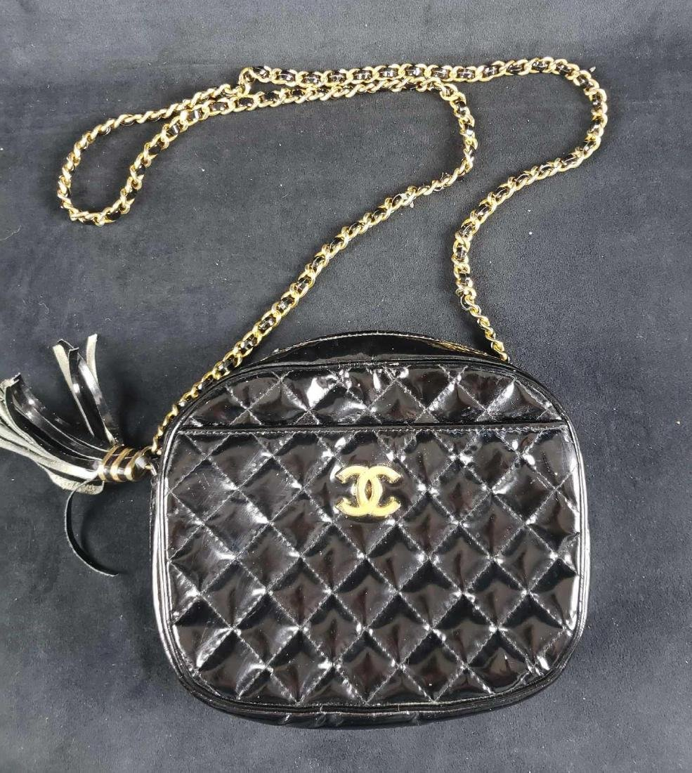 Black Patent Leather Chanel Purse