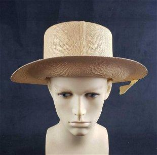c6ccf162c Rare Men's Vintage Stetson Straw Boater Hat - Nov 24, 2018 | Denise ...