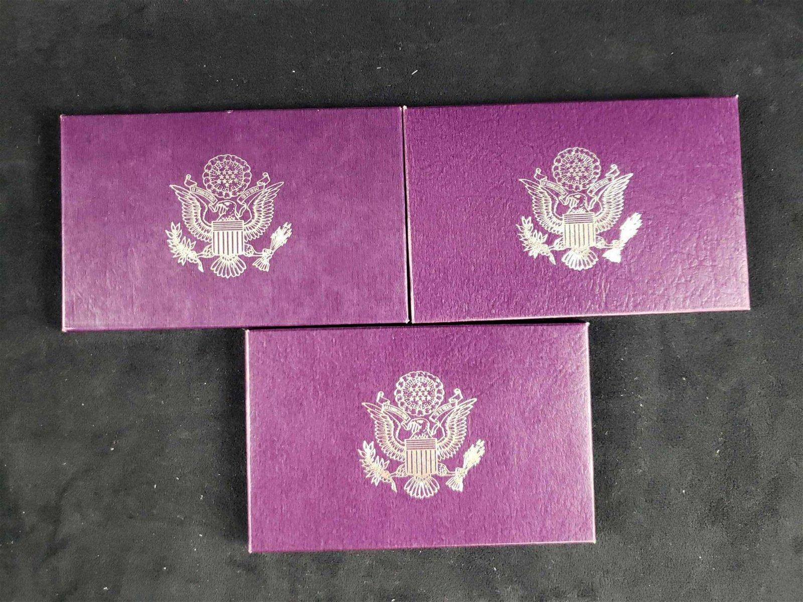 3 United States Mint Proof Sets 1988 1989 1990 D