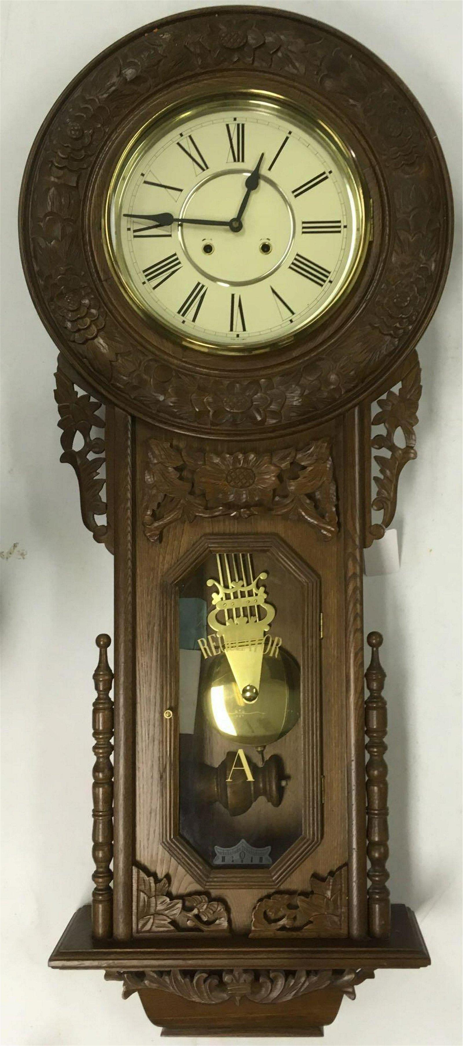"Large Regulator ""A"" Wall Clock Reproduction"