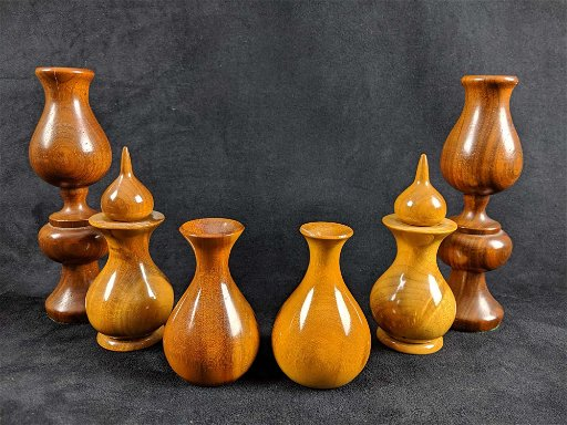 wood turning candle holders Mid Century Wood Turned Holders Lot Of 6 Sep 04 2019