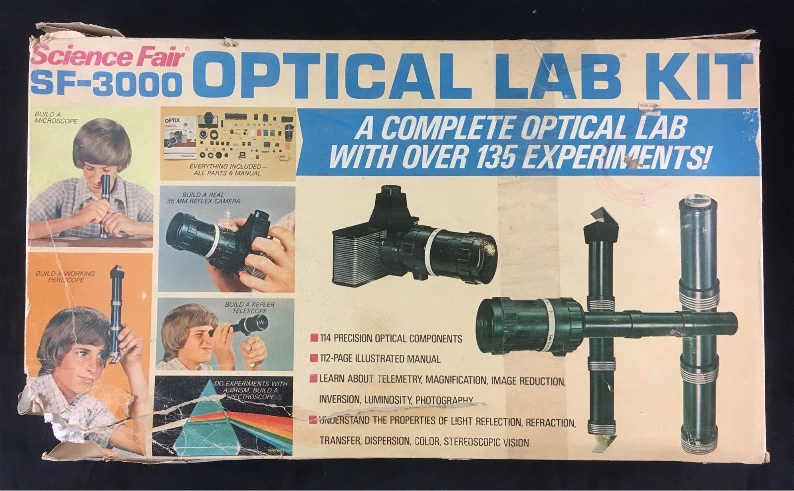 Vintage Science Fair 3000 Optical Lab it
