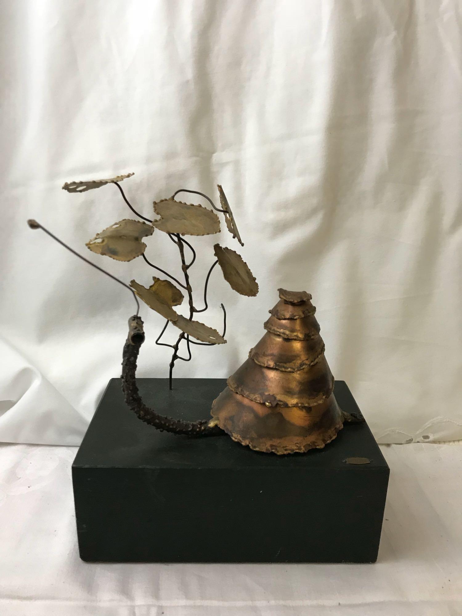 Vintage Mid Century C. Jere Snail Sculpture