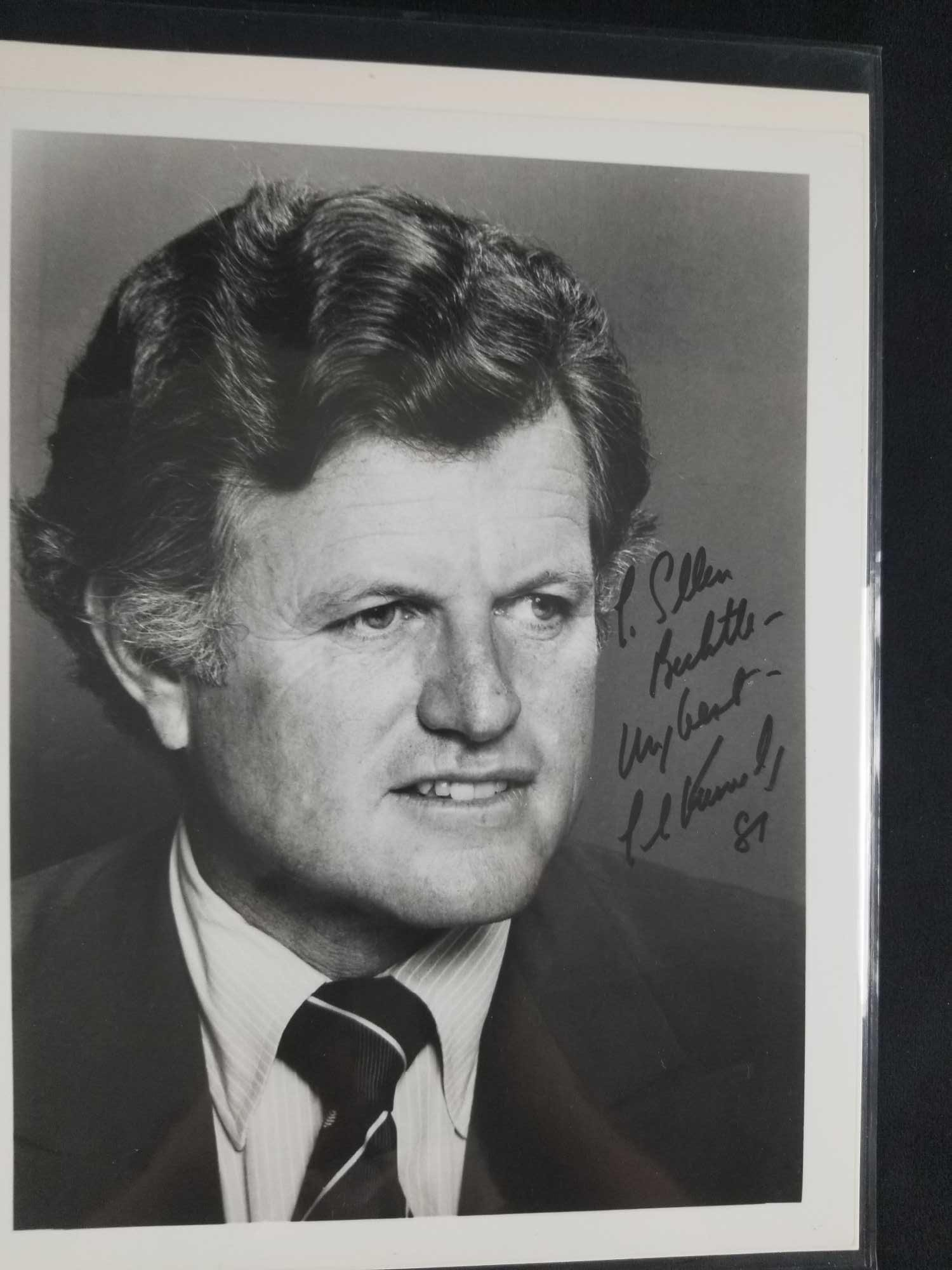 Autographed photo of Ted Kennedy 1981