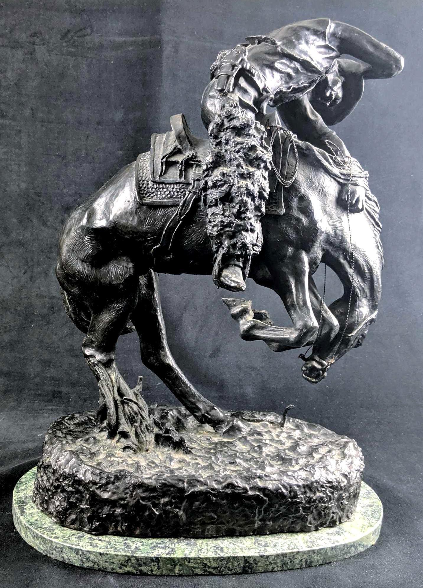Frederic Remington Bronze Statue Rattlesnake Incredible