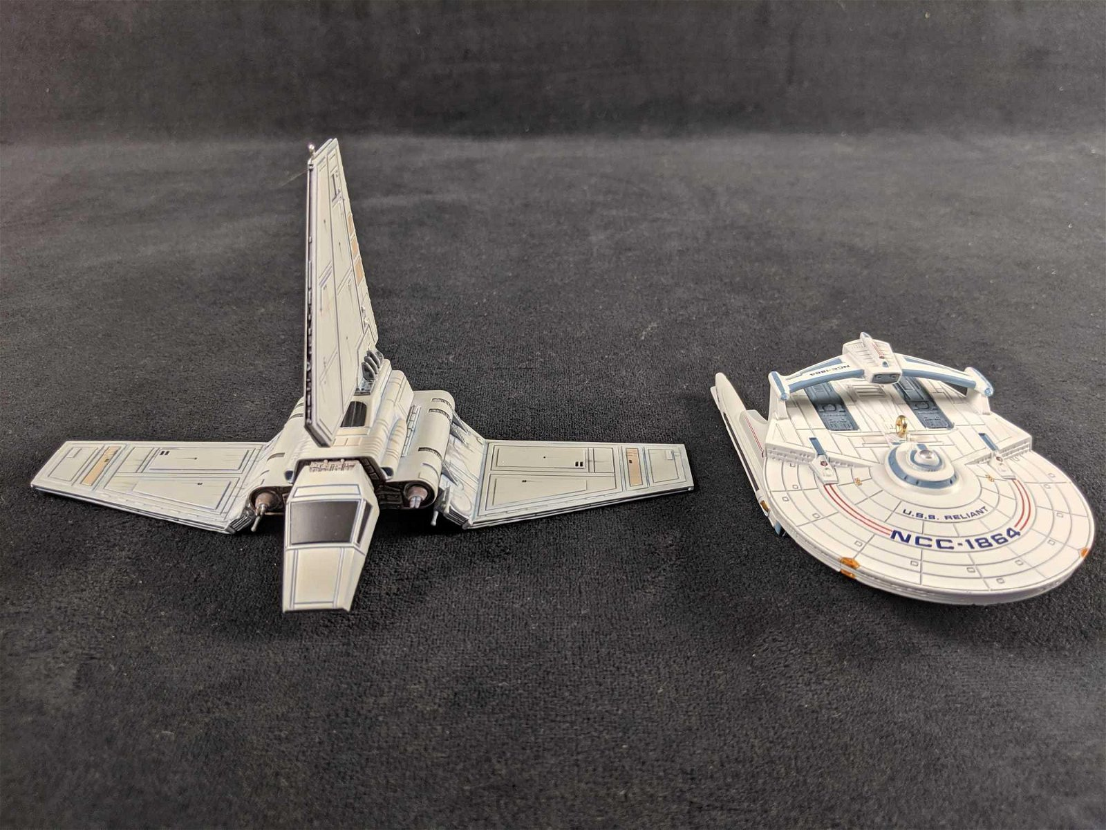 Lot Of Two Star Trek And Star Wars Ornaments Retired