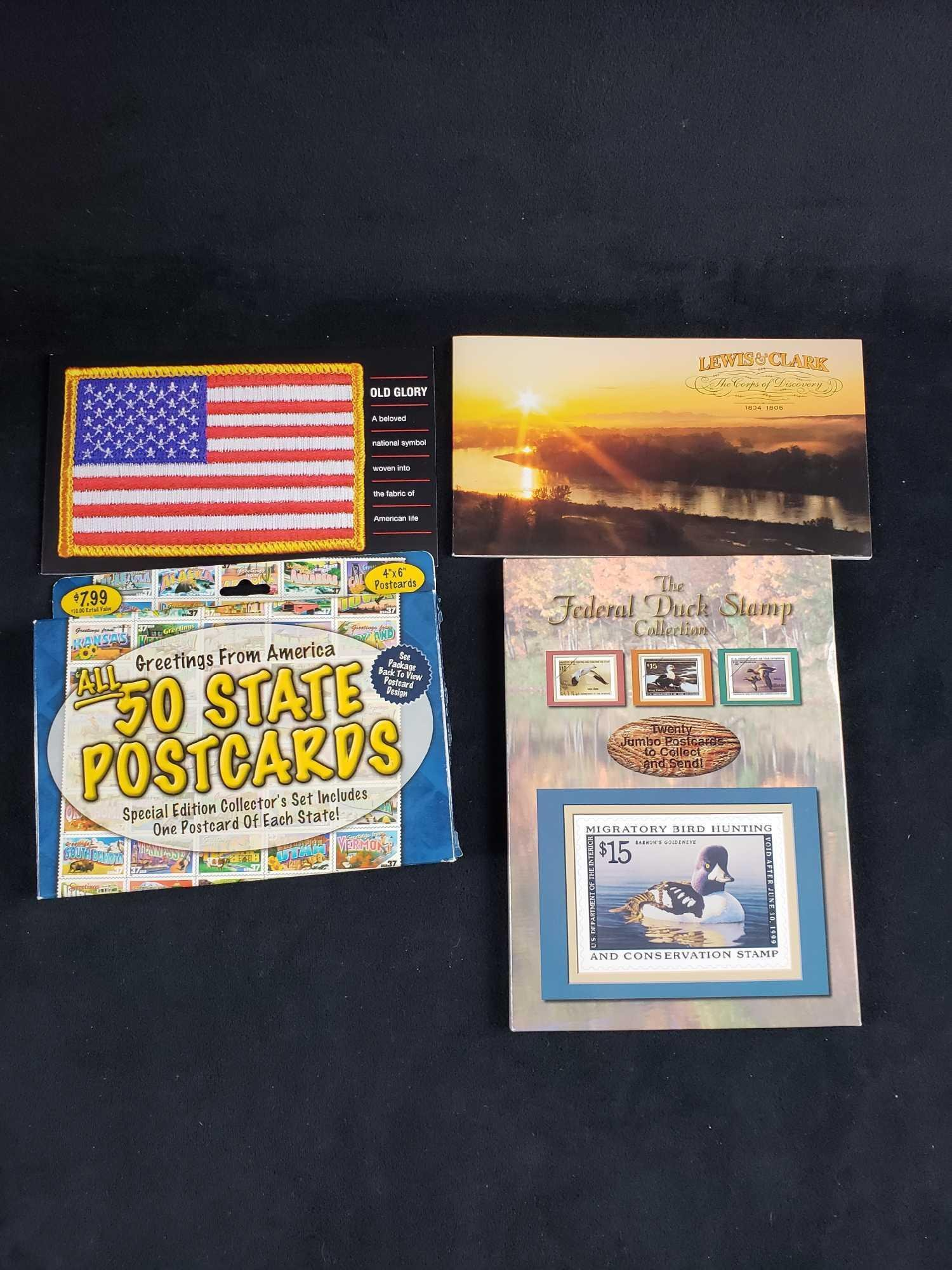 Collection of US Postal Stamp Books and Postcards of 4