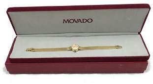 Vintage Movado 14 K Gold Ladies Watch