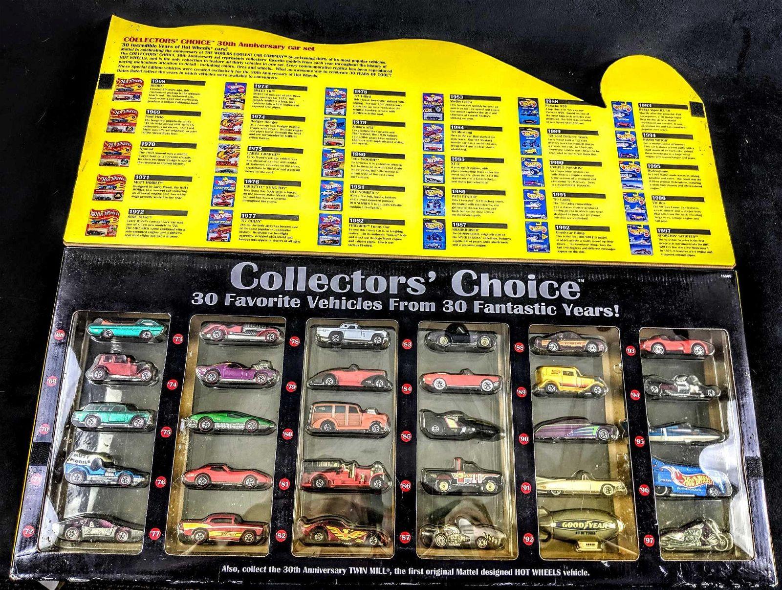 1998 Mattel Hot Wheels Collectors Choice Boxed Die Cast