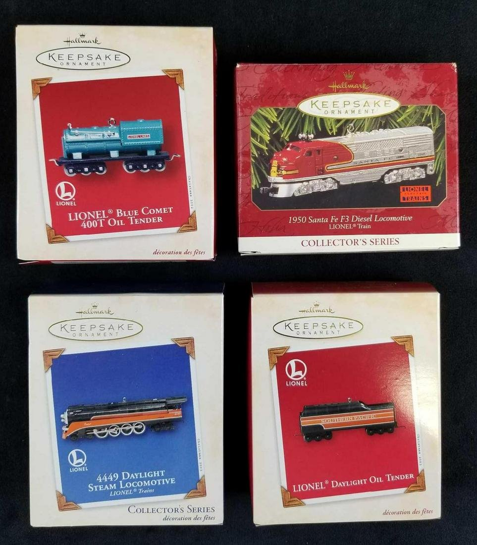 Set of 4 Lionel Collectible Ornaments by Hallmark