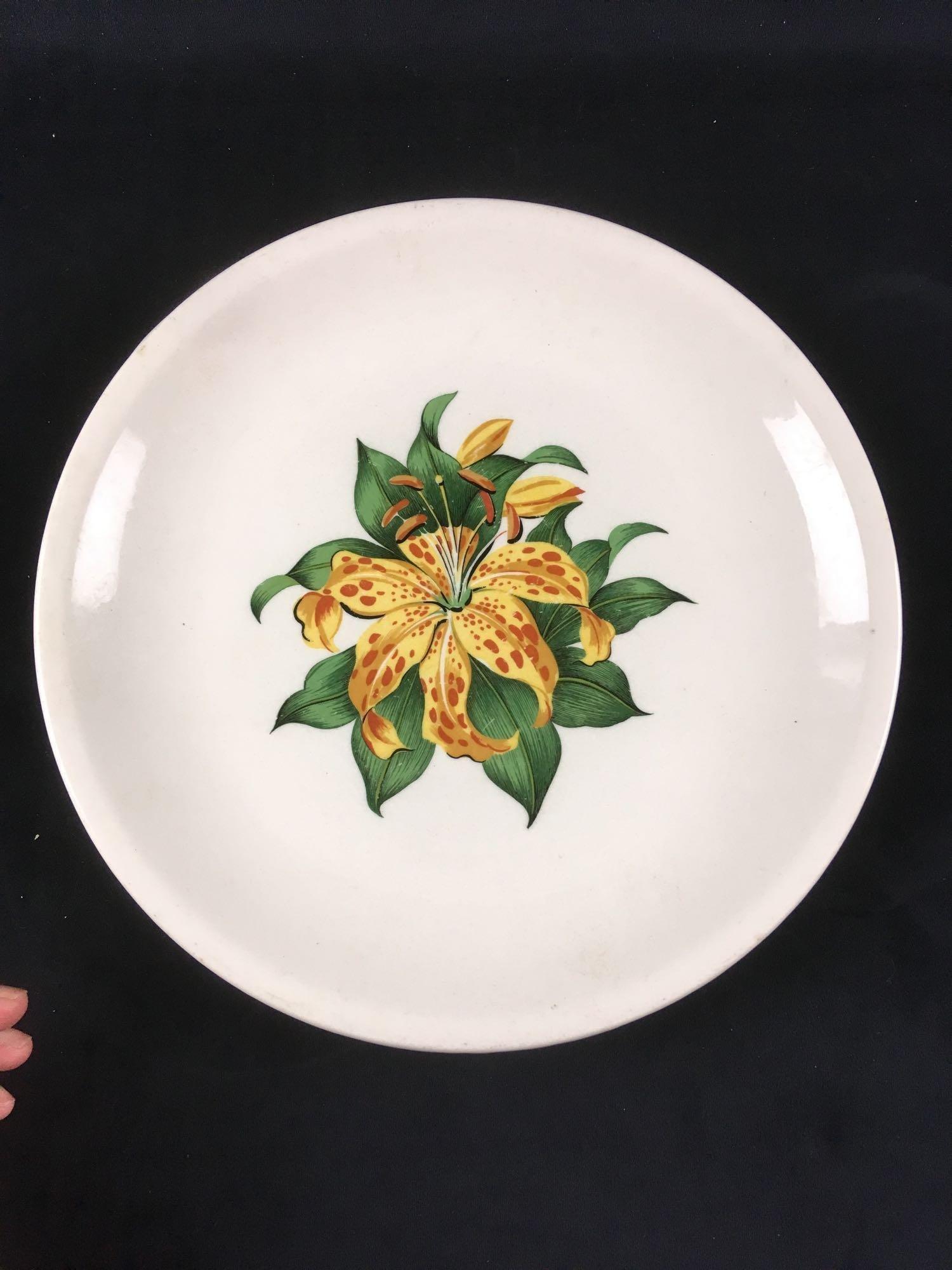 Vintage Large Ceramic Platter, Marked The Paden City