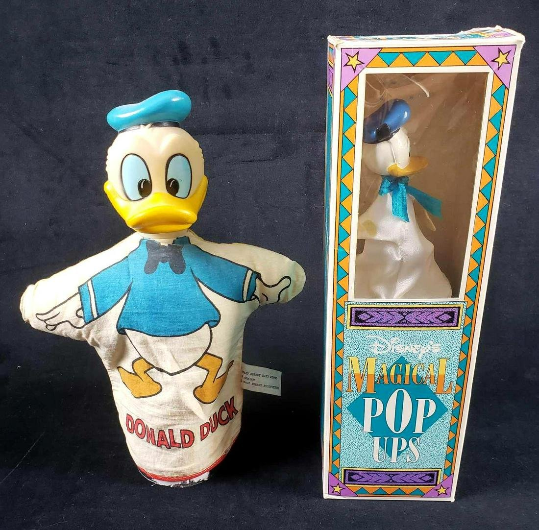 2 Disney Donald Duck Cloth Puppets