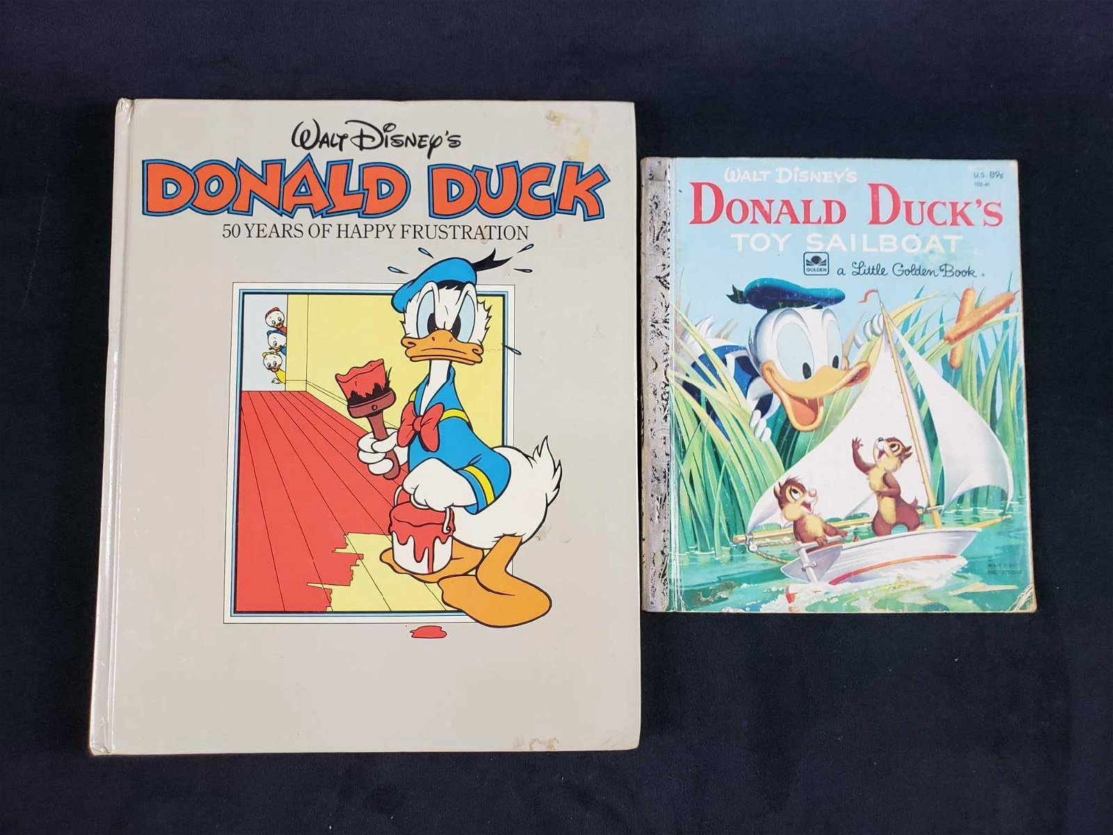 Lot of 2 Vintage Donald Duck Books
