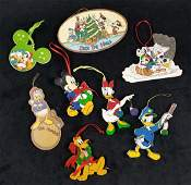 Vintage Disney Christmas Ornaments Lot of 8