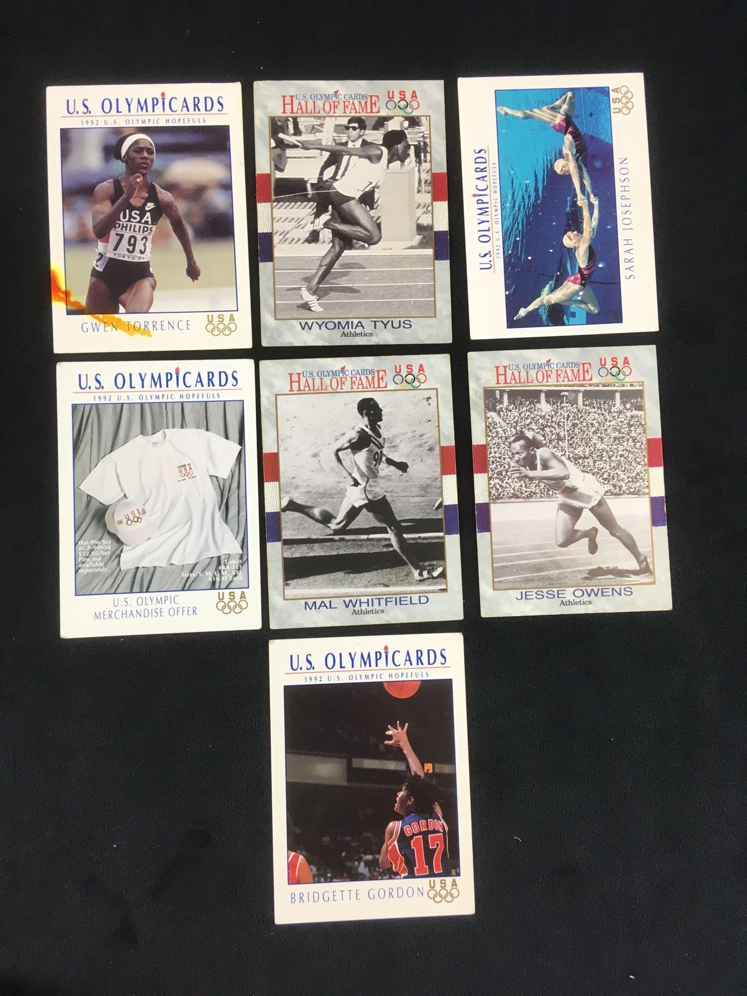 Collection of 7 Vintage US Olympic Hall of Fame