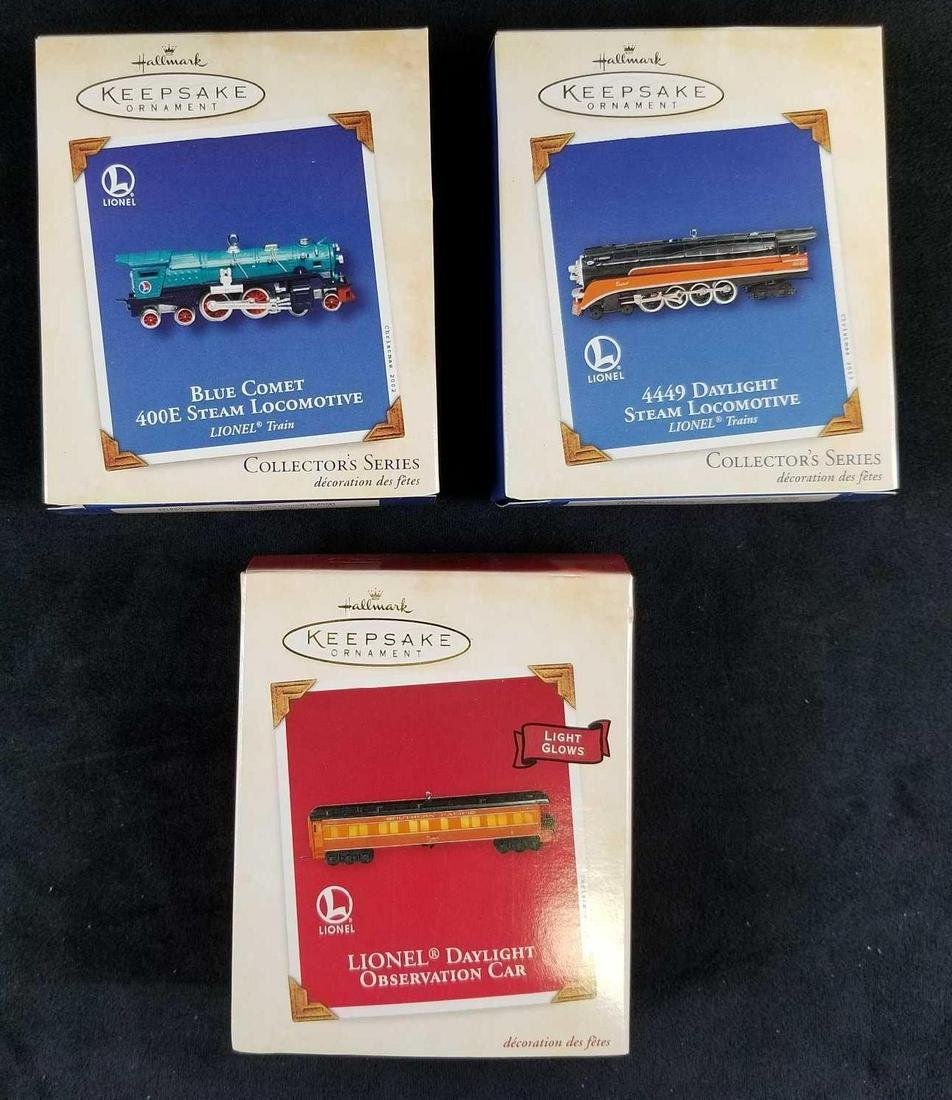 Set of 3 Lionel Collectible Ornaments by Hallmark A