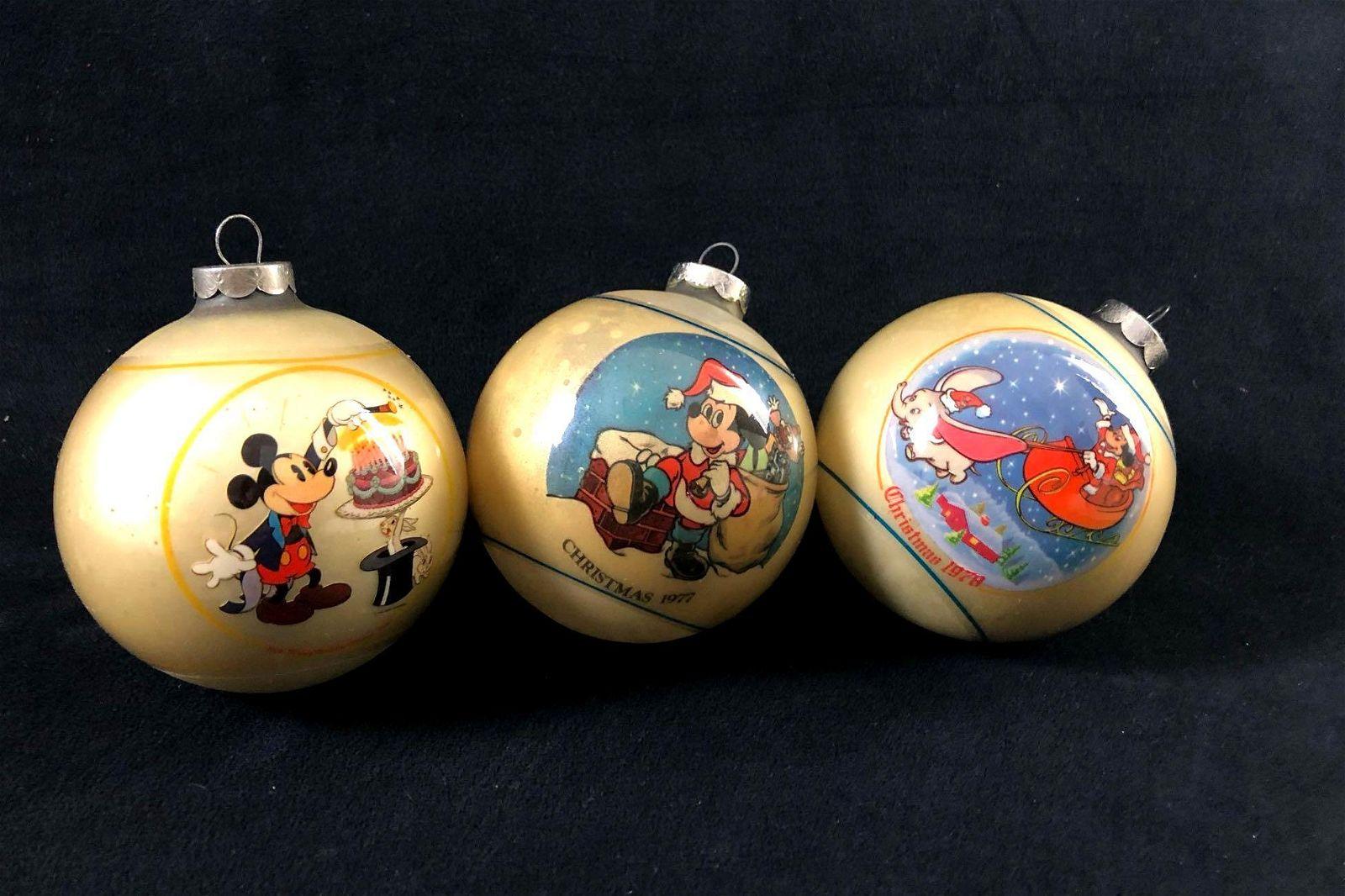 Lot Of 3 Vintage Schmid Walt Disney Christmas Ornaments