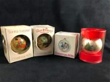 Lot Of 4 Walt Disney Christmas Ornaments Corning Schmid