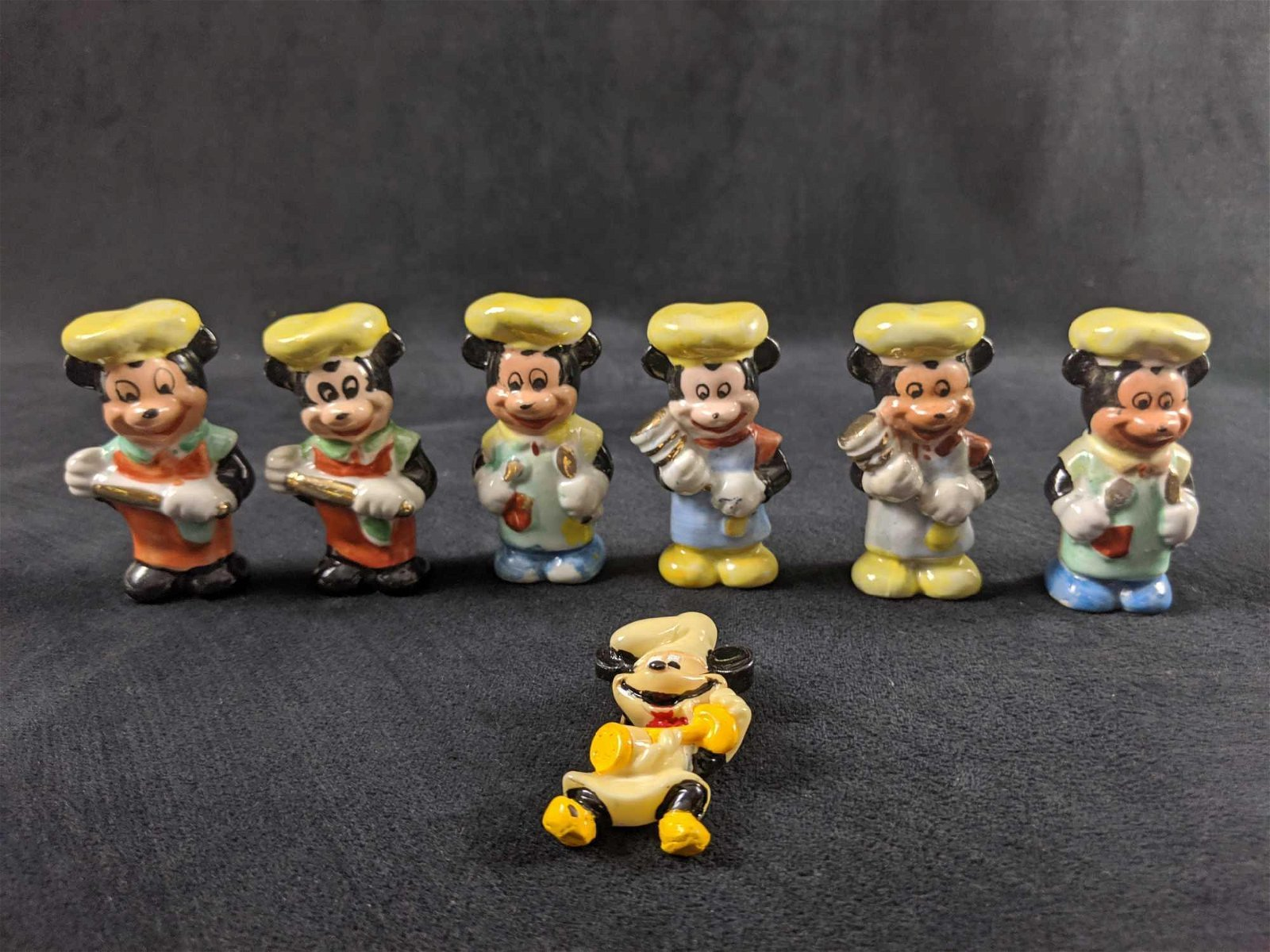 Rare Vintage Chef Mickey Mouse Hand Painted Porcelain