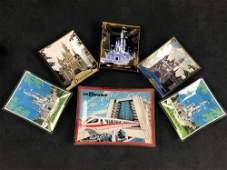 Lot of 6 Vintage Walt Disney World Red Monorail Castle