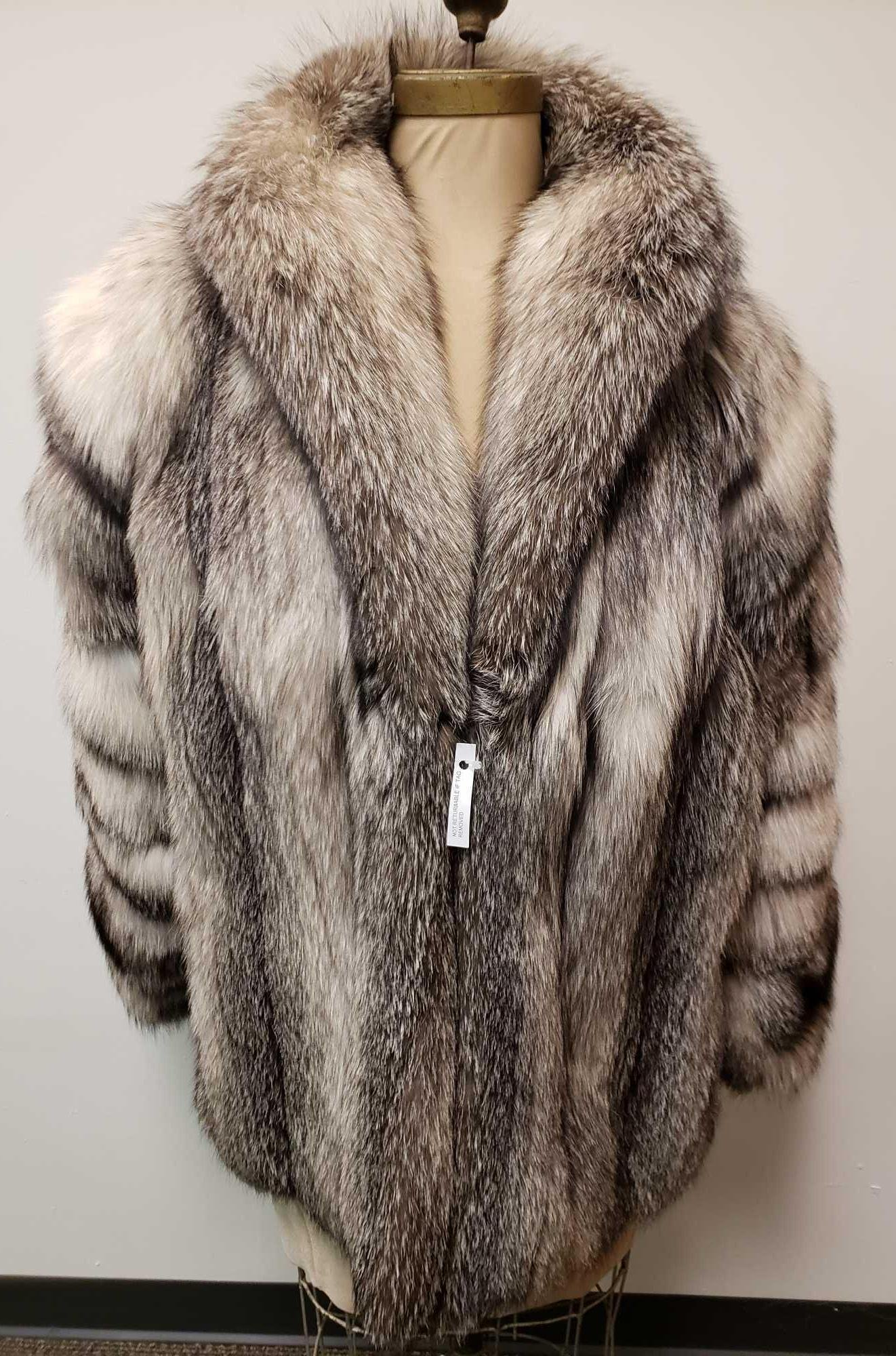 Furs by Albe European Arctic Marble Fox Fur Coat
