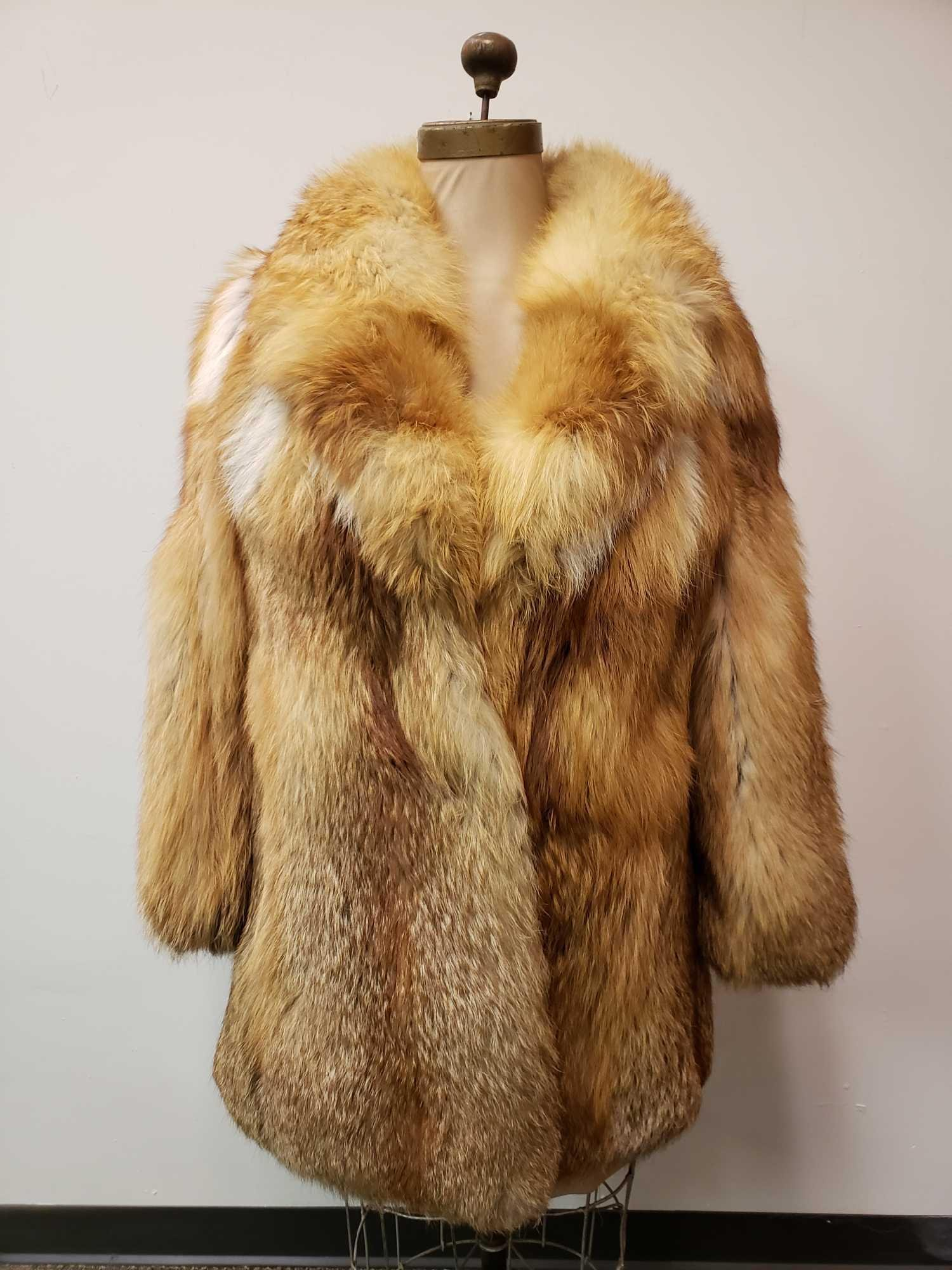 Mid Length Red Fox Fur Coat