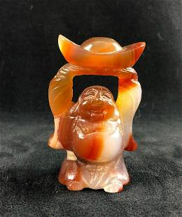 Agate Hand Up Buddha Hand Carved Offering