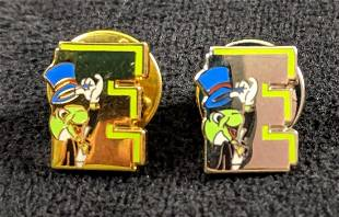 Rare Limited Edition Jiminy Cricket E Cast pin Gold And