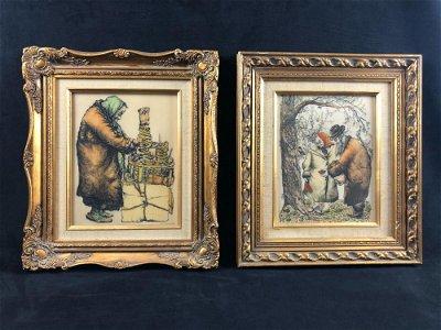 Pair of Vintage Artini Engravings Signed Jacob Samuels