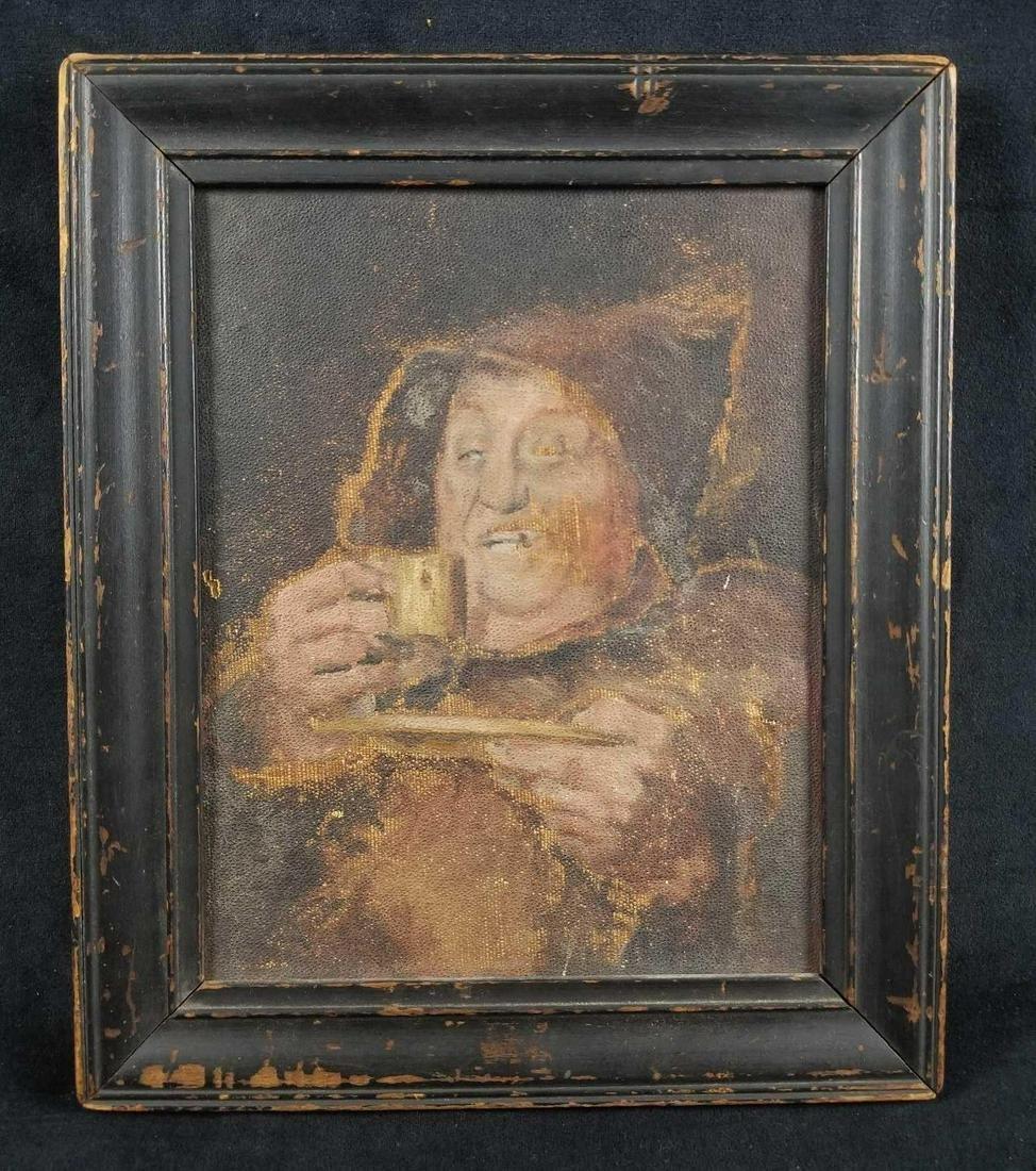 Drinking Man Original Mid Century Acrylic Painting