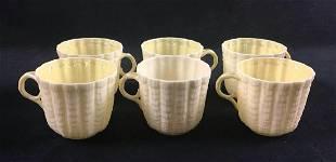 Lot of 6 Vintage Bellek Ireland Porcelain Lusterware