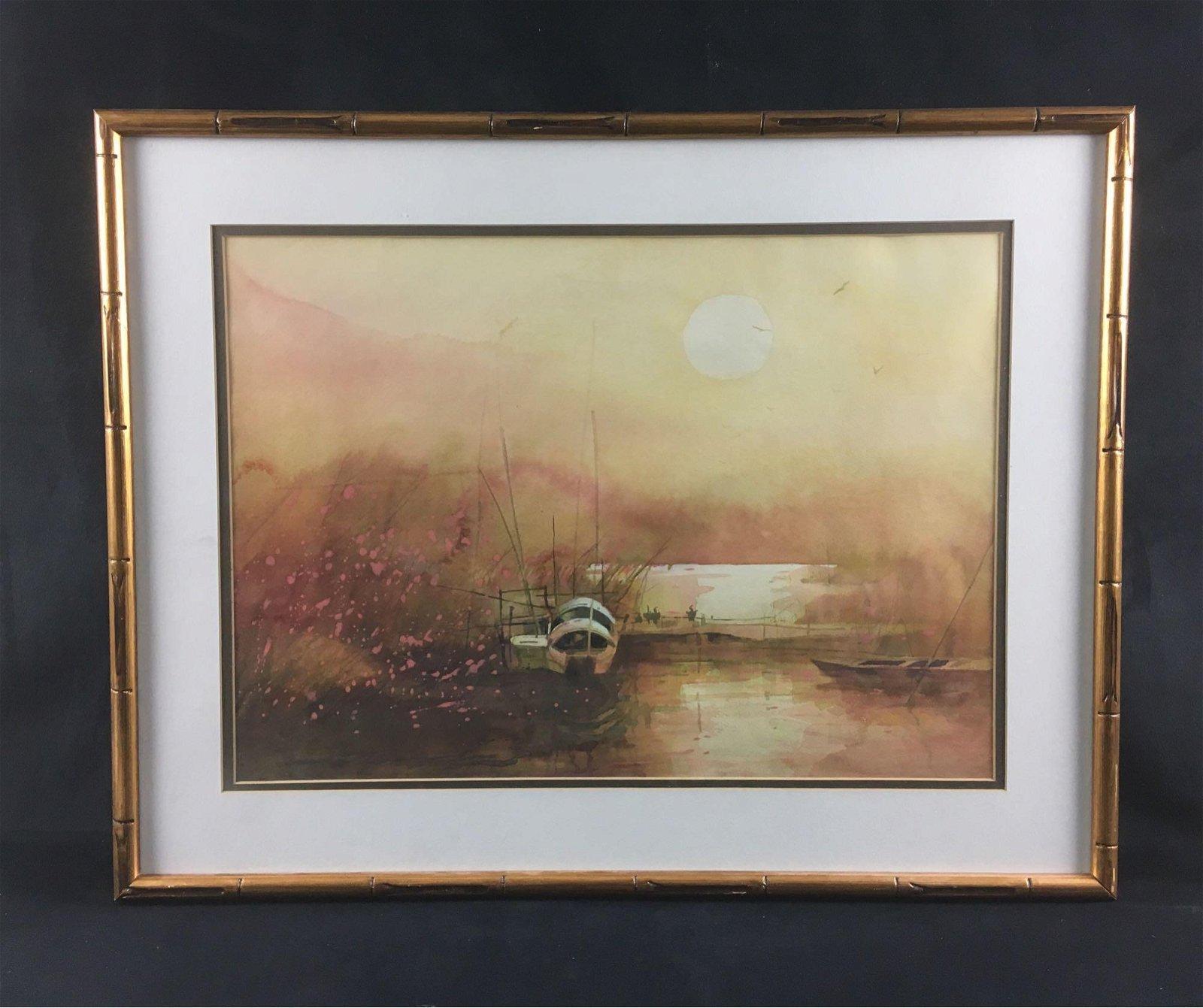 Original ZL Feng Landscape Watercolor Painting