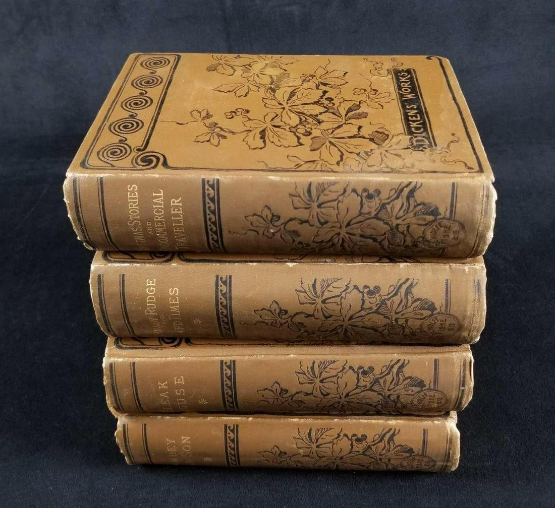 Vintage Lot of 4 Charles Dickens Books