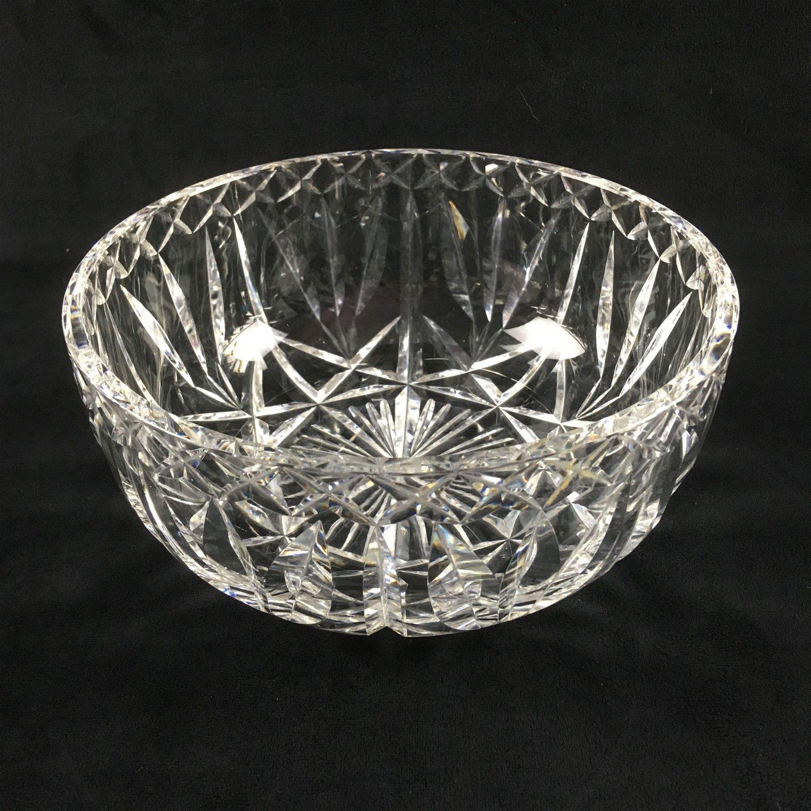Vintage Waterford Fine Clear Cut Crystal Bowl