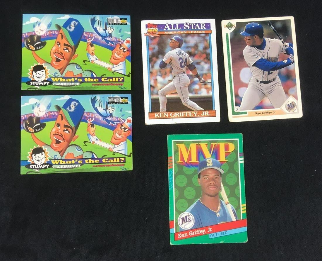 Lot of 5 Ken Griffey Jr Baseball Cards Circa 1990s