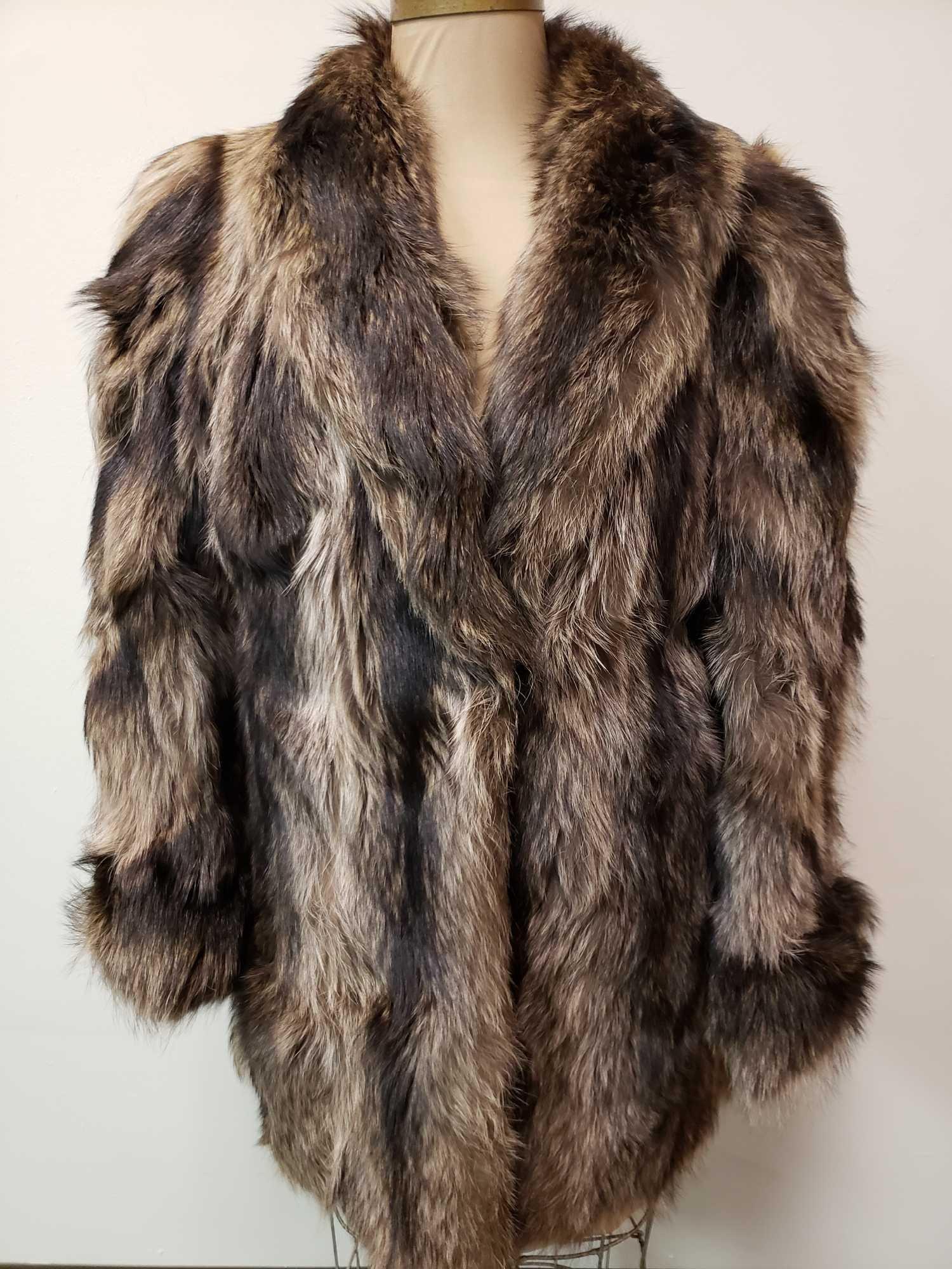 Mid Length Raccoon Fur Coat