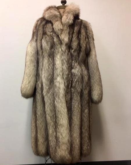 Very Fine Silver Fox Fur Full Length Coat