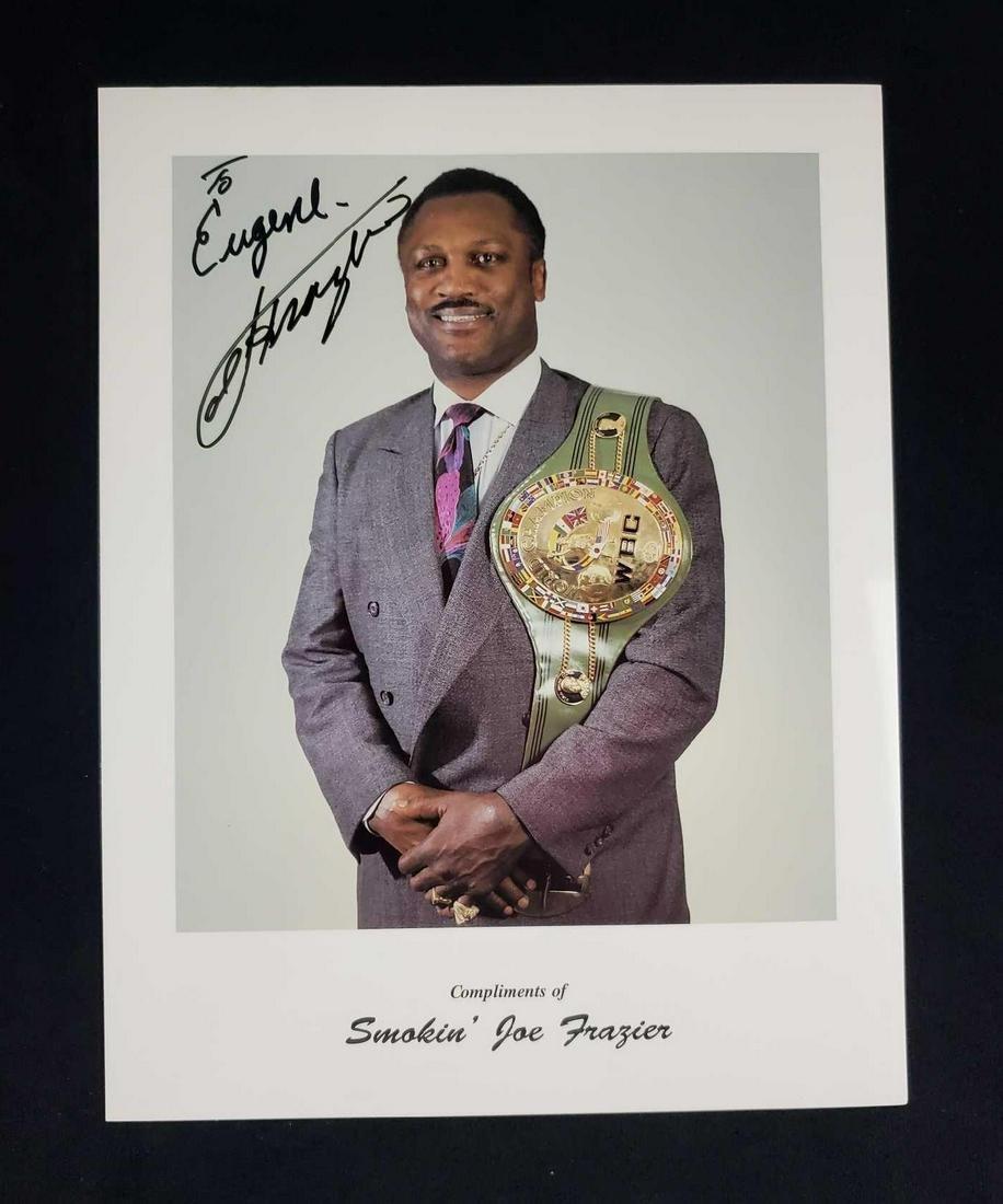 Autographed Photo of Joe Frazier