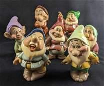 Vintage Ceramic Disney Seven Dwarfs