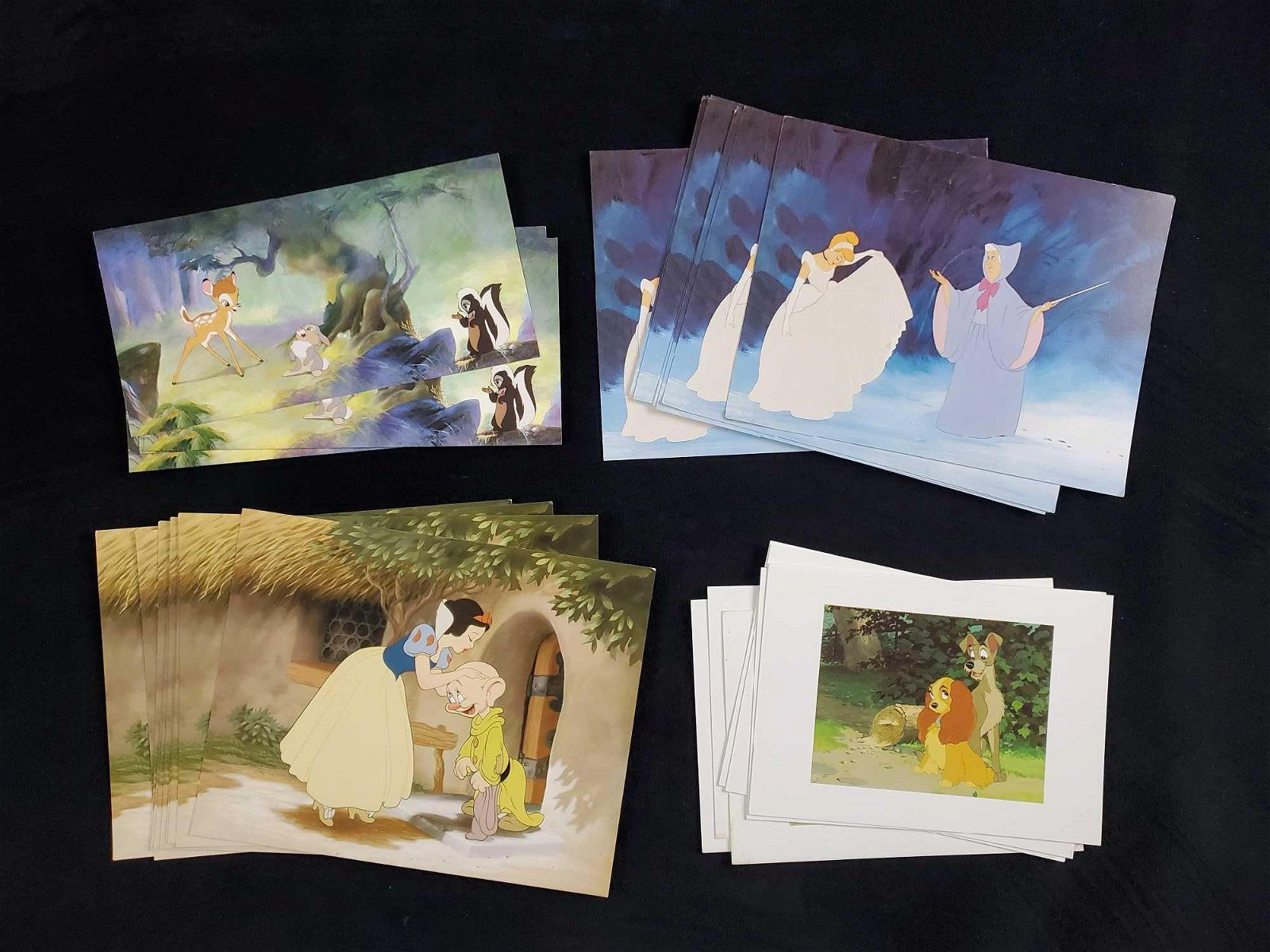 32 Vintage Disney Postcards Snow White Lady Tramp